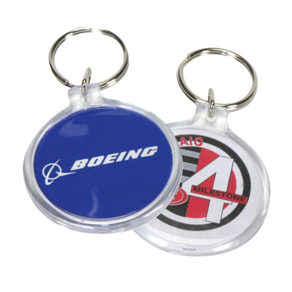 Circle Clear Acrylic Keyring