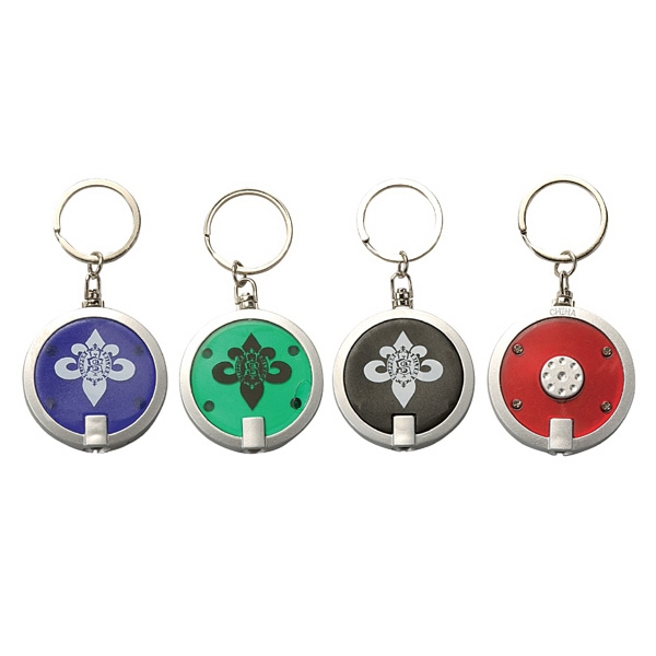 Round LED Light Keyring