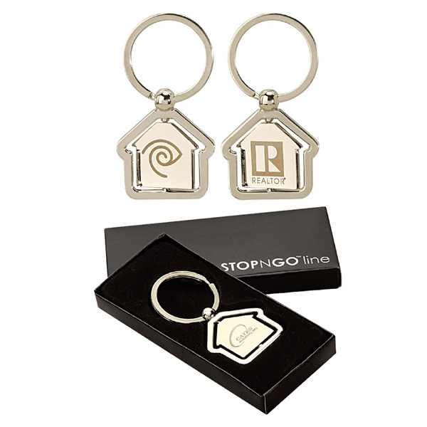 House Shaped Center Spinning Keyring