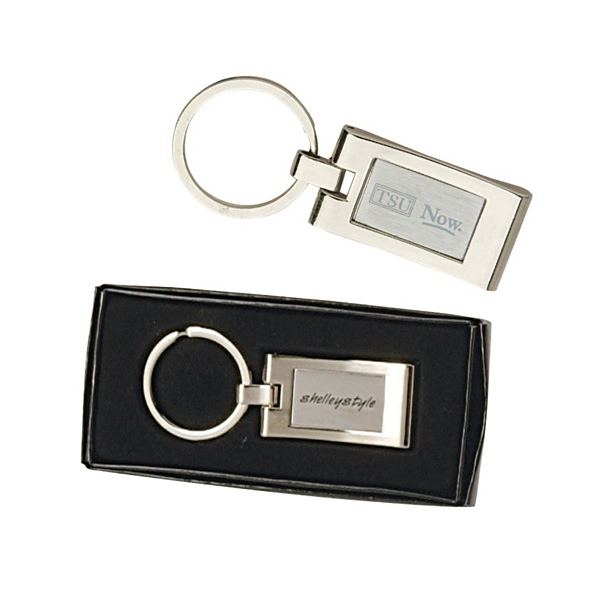 Sterling Silver Plated Rectangle Keyring