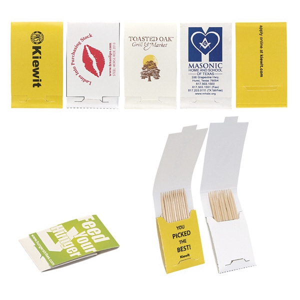 Toothpick Booklet With 10 Toothpicks And 4CP Printing