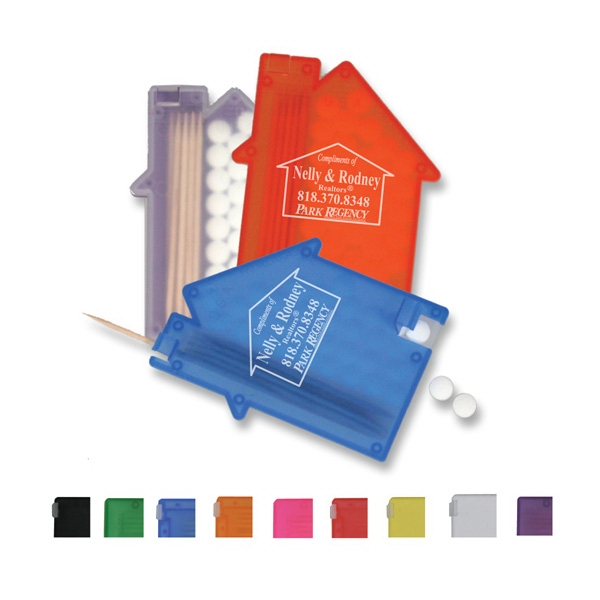 House Shaped Mint Box With Toothpicks