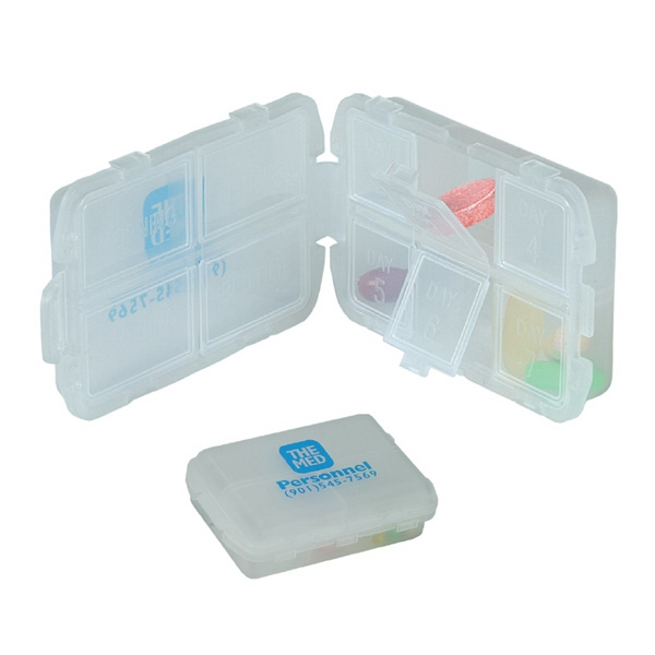Translucent White 7-day Multi-division Pill Box Photo