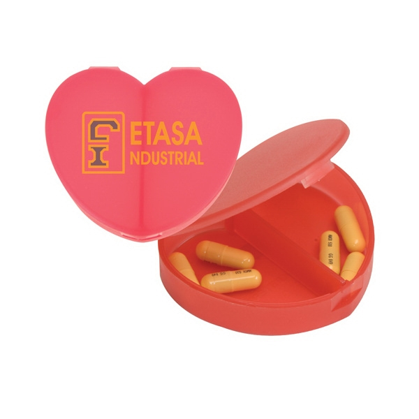Heart Shaped Pillbox With 2 Sections