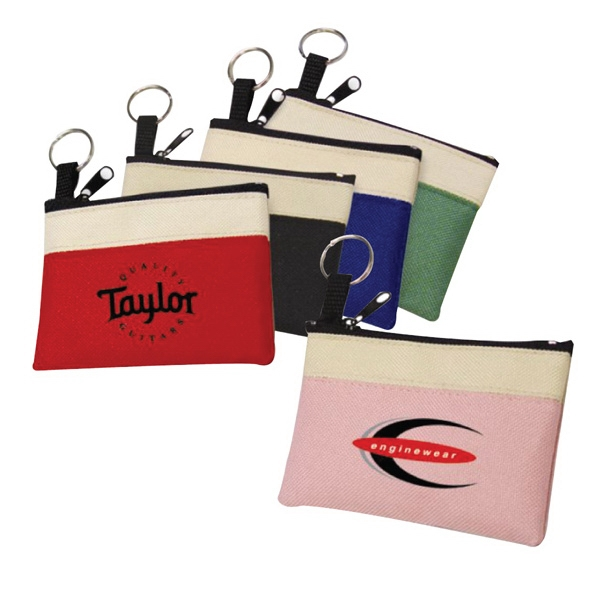 600 Denier Polyester Two-Tone Coin Pouch
