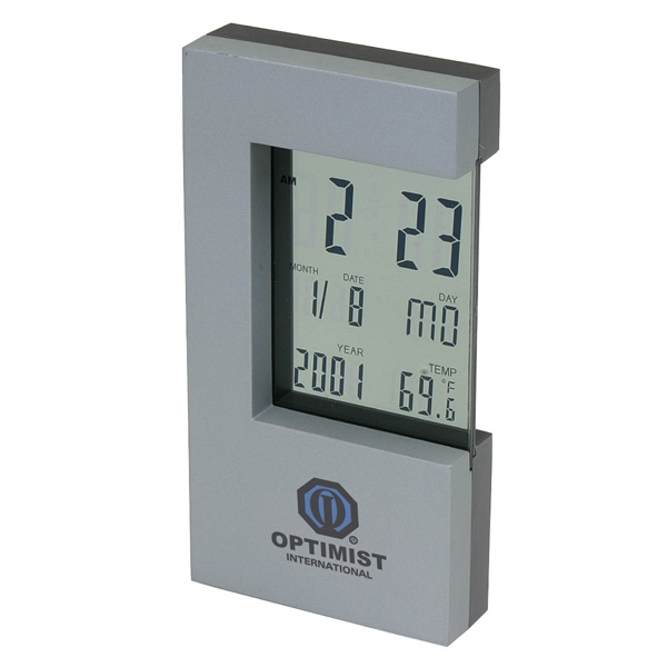 Desktop Digital Clock With Glass Lcd Display Photo
