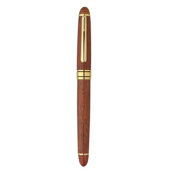 The Milano Blanc Rosewood Rollerball Pen