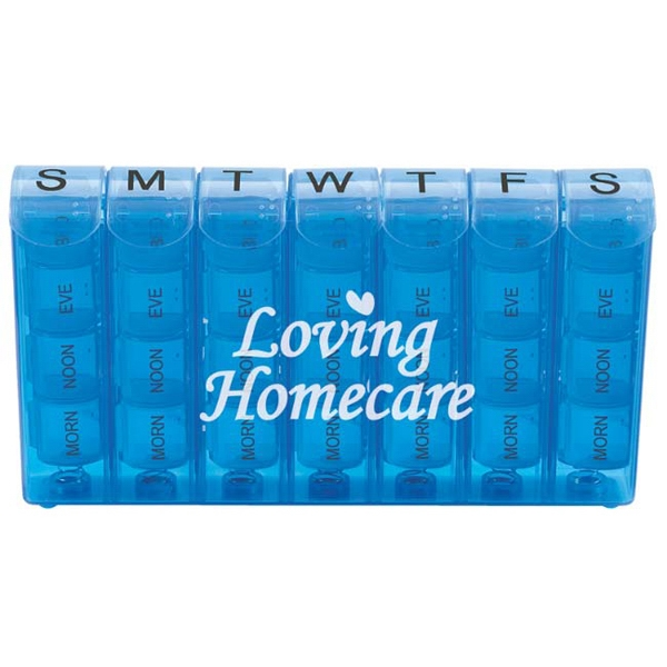 28 Compartment Pill Box With Spring Action Photo