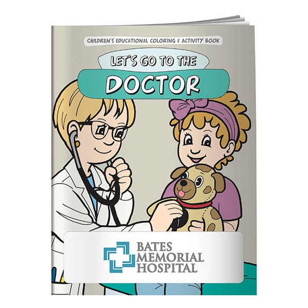 16-page Coloring Book With Story Line About Going To The Doctor Photo
