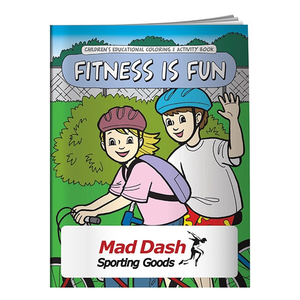 16-page Coloring Book About Getting Fit And Staying Healthy Photo