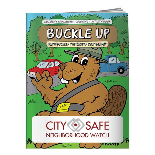 Coloring Book About Buckling Up In The Car Photo