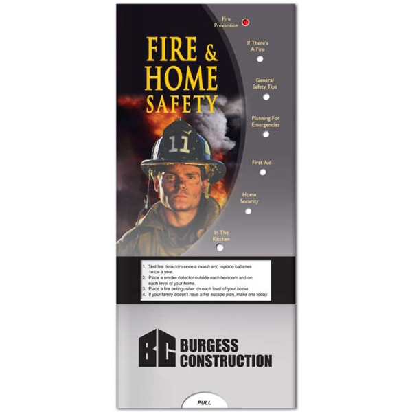 Pocket Slider - Fire And Home Safety Informational Guide Photo
