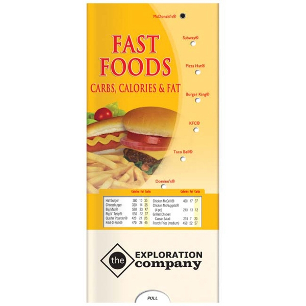 Pocket Slider - Healthy Fast Food Interactive Slide Chart Photo