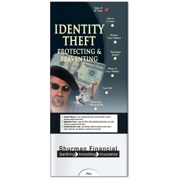 Pocket Slider - Identity Theft Prevention Interactive Slide Chart Photo