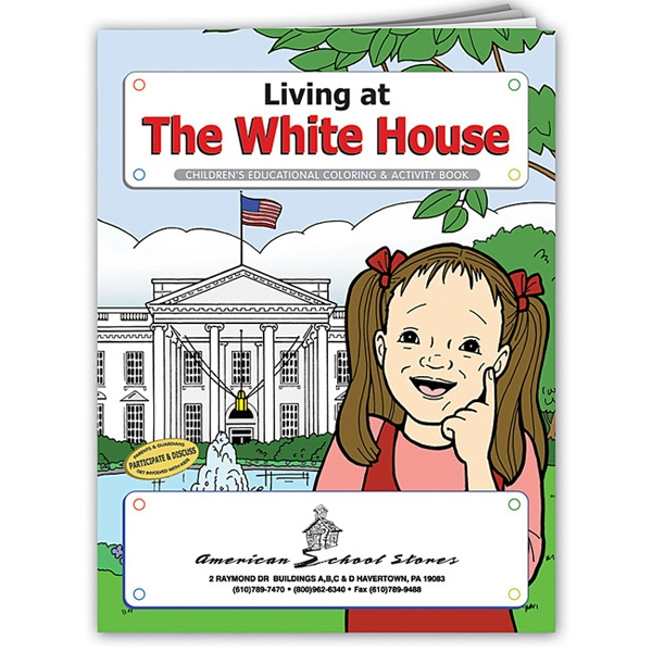 Coloring Book About Living At The White House Photo
