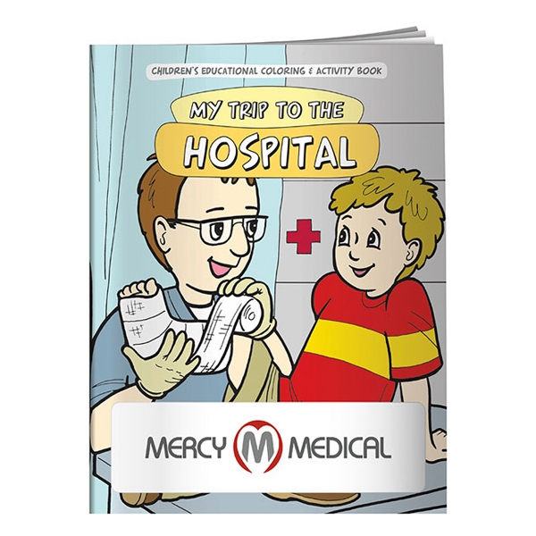 Coloring Book About Going To The Hospital Photo