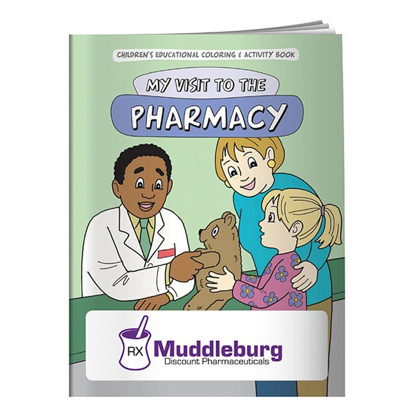 Coloring Book About A Trip To The Pharmacy Photo