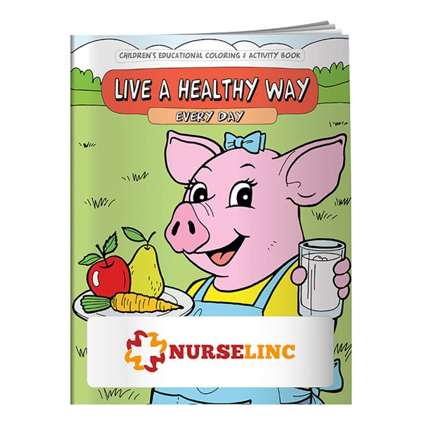 Coloring Book About Living A Healthy Way Everyday Photo