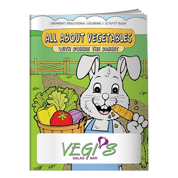 Coloring Book About Vegetables Photo