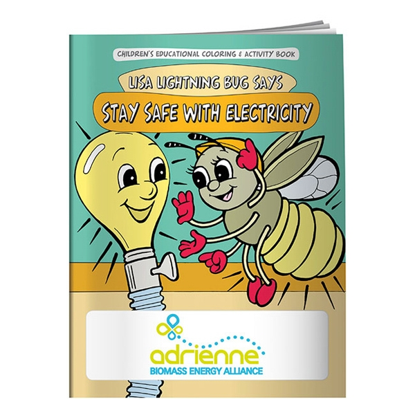 Stay Safe With Electricity Coloring Book Photo