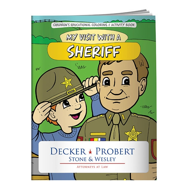 My Visit With A Sheriff Coloring Book Photo