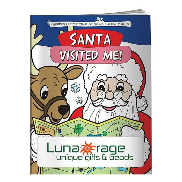 Coloring Book: Santa Visited Me!