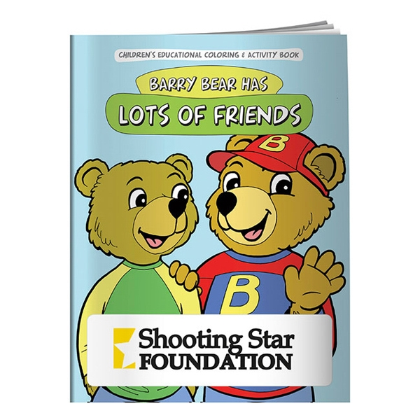 Barry Bear Has Lots Of Friends Coloring Book Photo