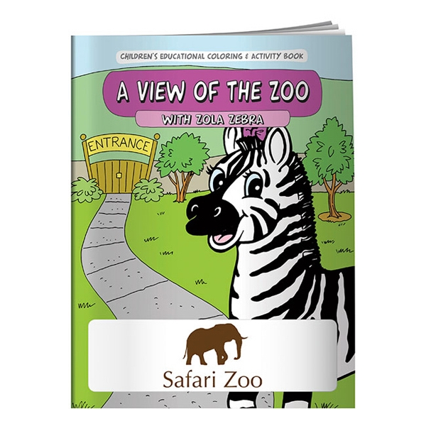 A View Of The Zoo Coloring Book Photo