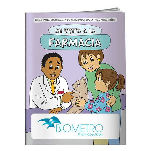 My Visit To The Pharmacy Spanish Coloring Book Photo