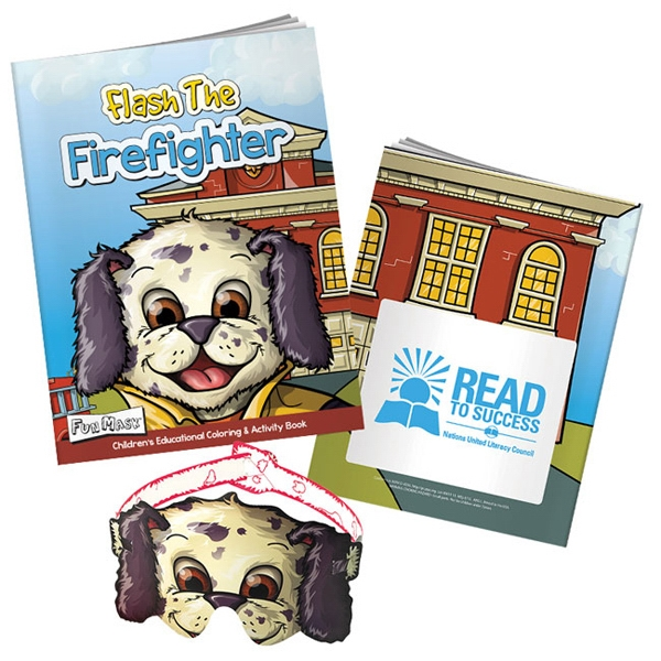 Flash the Fire Fighter Coloring Book with Mask