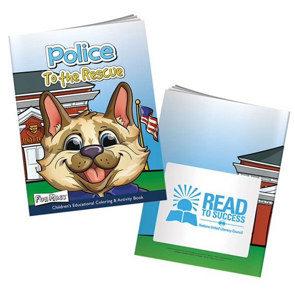 Police to the Rescue Coloring Book with Mask - Coloring book about police, includes a tear-out mask for kids.