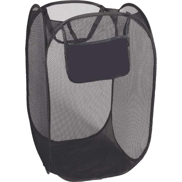 Folding Laundry Bag, Collapsible Mesh Bag With Black Trim Photo