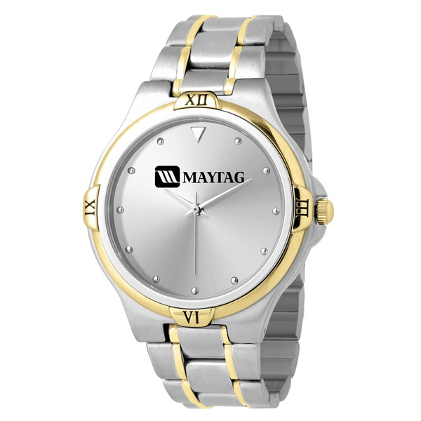 Mens - Analog Wrist Watch With 2-tone Design Photo