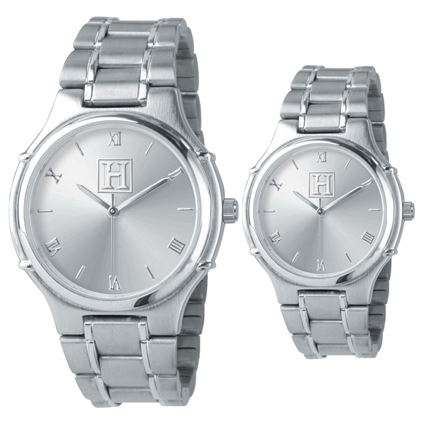 Ladies - Analog Wrist Watch, Silver Tone, Quartz Movement And Stainless Steel Bracelet Band Photo
