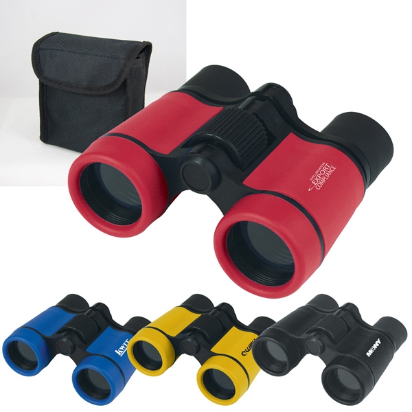 4 X 30 Mm Power Binoculars With Rubberized Color Finish And Black Accents Photo