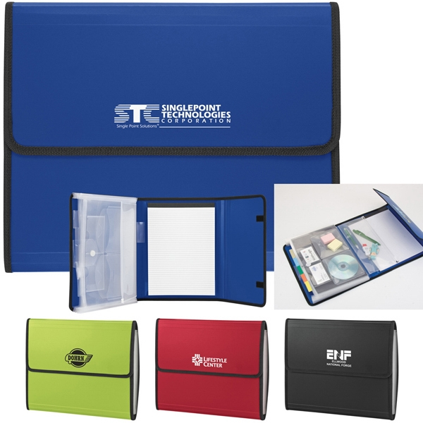 All-in-one Office Portfolio Has 5 Tabbed Document Pockets And Velcro Flap Closure Photo