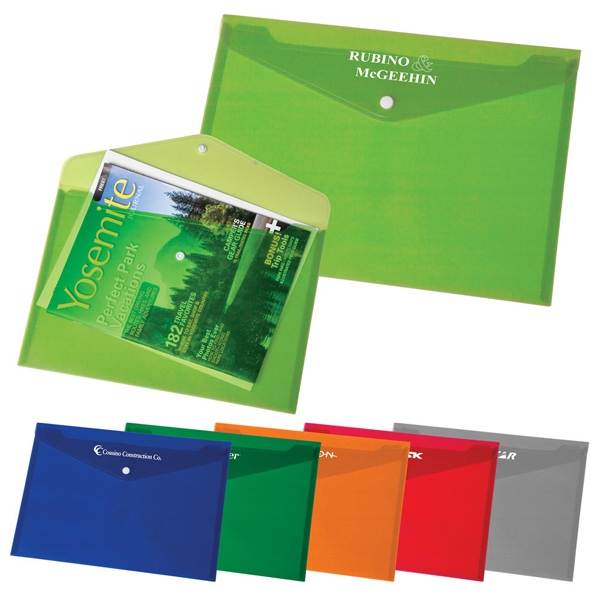 Snap It - Bold Color Translucent Letter Sized Envelope With Snap Closure Photo