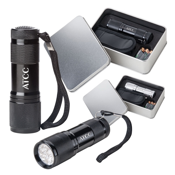 Gift Set With Torch Style Flashlight, Bulbs And Carrying Case Photo