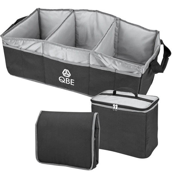 Trunk Organizer Has Three Large Compartments With Heat Sealed Peva Lining Photo