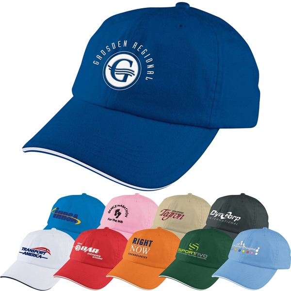Unstructured Sport Sandwich Cap Made From Cotton Twill With 6 Panel Medium Profile Photo