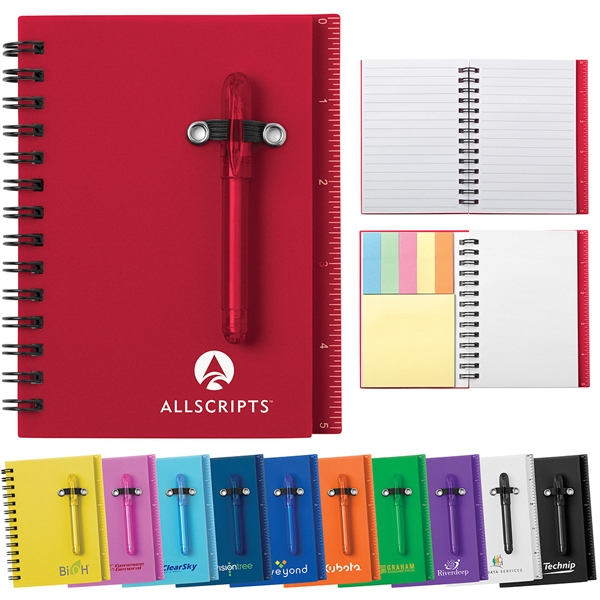All-in-one Mini Notebook With Self-stick Tabs And Shorty Ballpoint Pen Photo