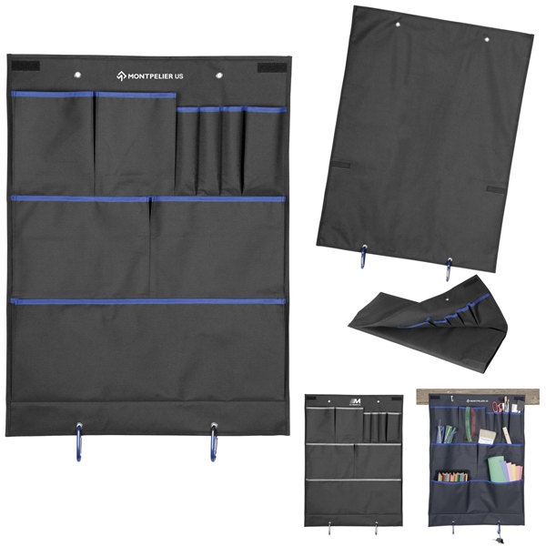 Loft Storage Organizer Is Black With Contrasting Color Accent And 10 Pockets Photo