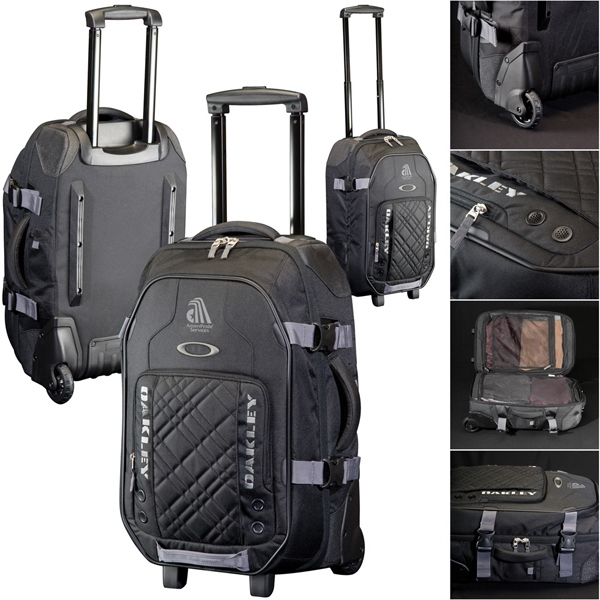 Oakley (r) - 600d Polyester Rolling Bag, Carry On Size. Lockable Main Zipper. 43l Capacity Photo