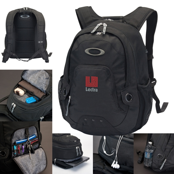 Oakley (r) Flak Pack - Sturdy Black 600d Polyester Backpack, Black Dobby Material Accent. 30l Capacity Photo