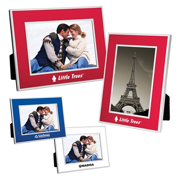 "4"" X 6"" Aluminum Picture Frame With Chrome Border And Matte Finish Photo"