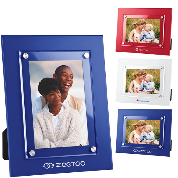 Picture Frame Has Acrylic Window Which Overlaps The Frame, Stand Or Wall Mount Photo