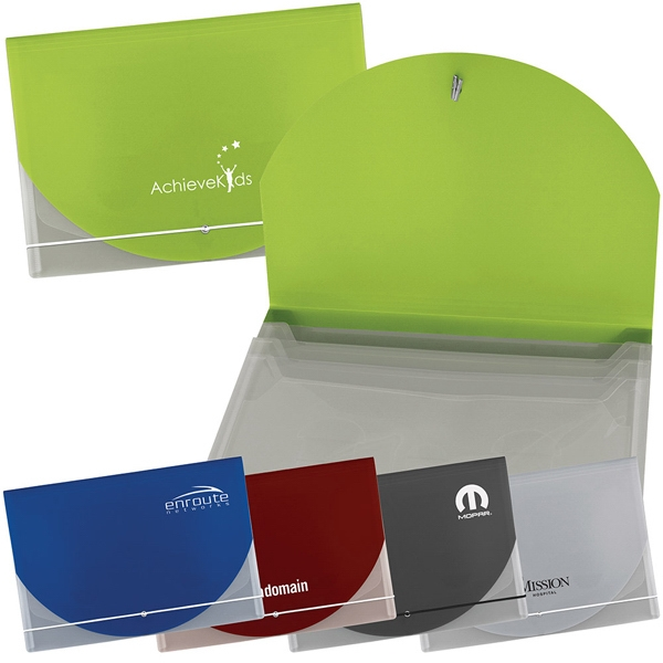 Lightweight Portfolio Document Holder Has 3 Additional Translucent Pockets Photo