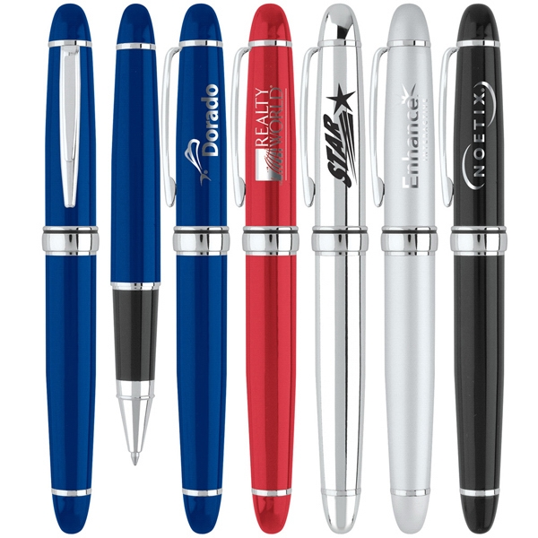 Embassy - 2 Piece Roller Point Pen With Enamel Or Metallic Finish Body Photo