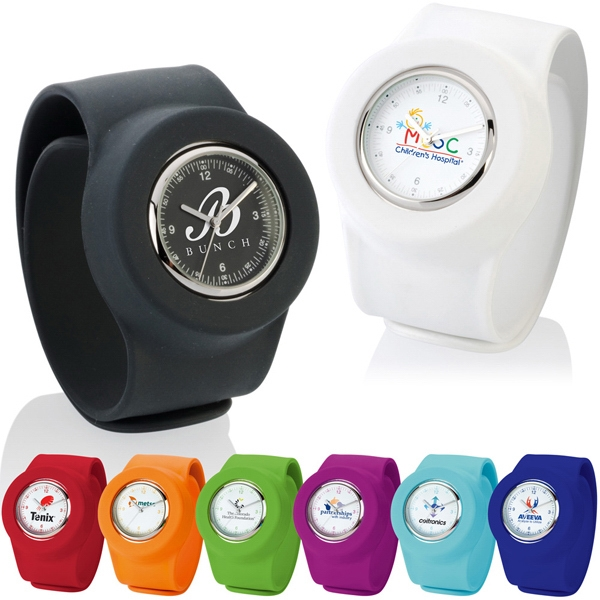 Slap-on - Waterproof, Cool Color Silicone. Slap-on Watch/analog Photo
