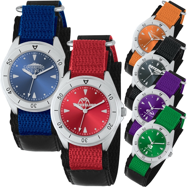 Analog Watch With Unisex Style, Sporty Band And Double Ring Design Photo